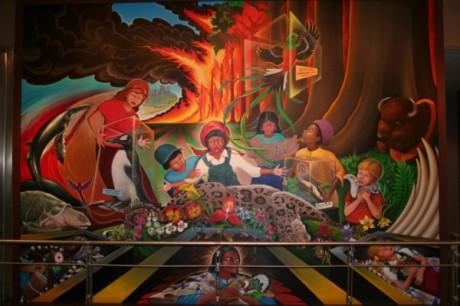 The Secret World : le MMO qui change tout ! Denver-Airport-Mural-460x306