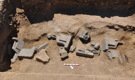 More Sekhmet statues unearthed at Amenhotep III's temple in  2013-634986128203043034-304