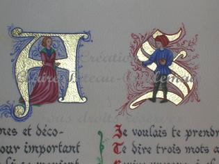 Explication de l'Enluminure Lettres-a-et-s