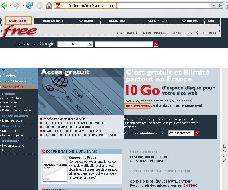 Comment créer son site gratuitement chez free.fr 001