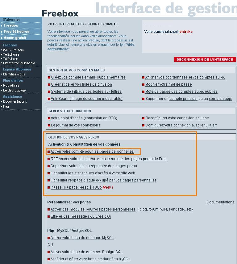 Comment créer son site gratuitement chez free.fr 00B2