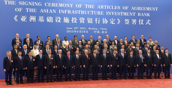 China promueve el Banco Asiático de Inversión en Infraestruturas. 57 Estados fundadores. 1435605593_796475_1435606611_noticia_normal
