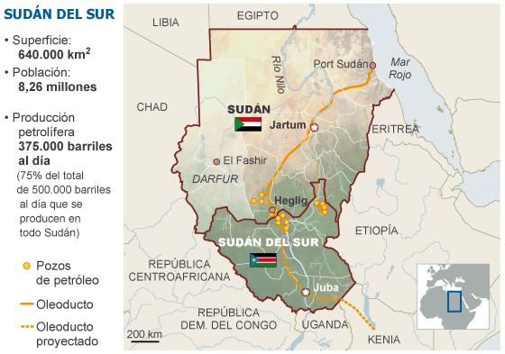 Sudán, Sudán del Sur. Militarismo, guerras, petróleo. 1334607246_683324_1334616170_sumario_normal