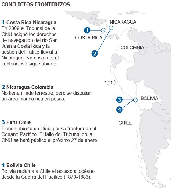 América Latina: Territorios en disputa (mapa). 1390589834_173330_1390592507_sumario_normal