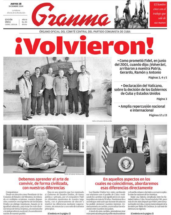Volvieron los 5 e scarcerarono 53 prigionieri politici a kuba 1418902096_912800_1418902996_noticia_normal