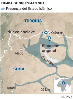 Turquía ocupa una aldea siria para alojar un santuario asediado por el EI 1424589327_325513_1424634656_sumario_normal