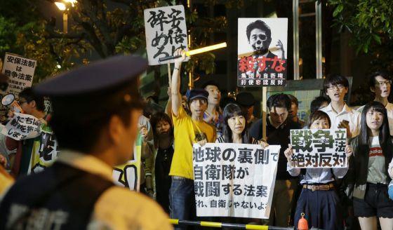 Japón aprueba las normas para ampliar el papel de su Ejército 1431620759_320251_1431623400_noticia_normal