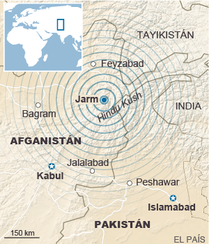 Seísmo en Afganistán y Pakistán, centenares de personas muertas. 1445852167_208209_1445885800_sumario_normal