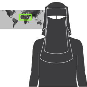 Velos islámicos. Prendas con que recubren el cuerpo femenino de muchas mujeres musulmanas varía según costumbres y países. 1471347181_490989_1471349979_sumariofototexto_normal_recorte1
