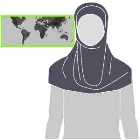 Velos islámicos. Prendas con que recubren el cuerpo femenino de muchas mujeres musulmanas varía según costumbres y países. 1471347181_490989_1471353384_sumariofototexto_normal_recorte1