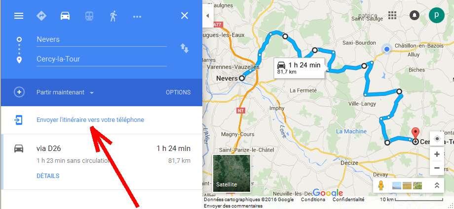 GPS via Google Maps1