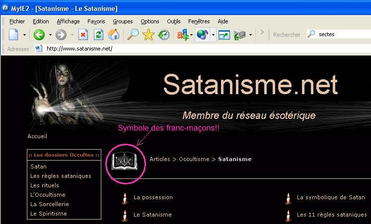 Symboles du satanisme et de la franc-maçonnerie Satanisme-fm