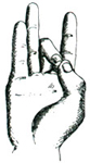57. Akasha-Mudra (Акаша-Мудра)   Мудра эфира или неба.  Akasha