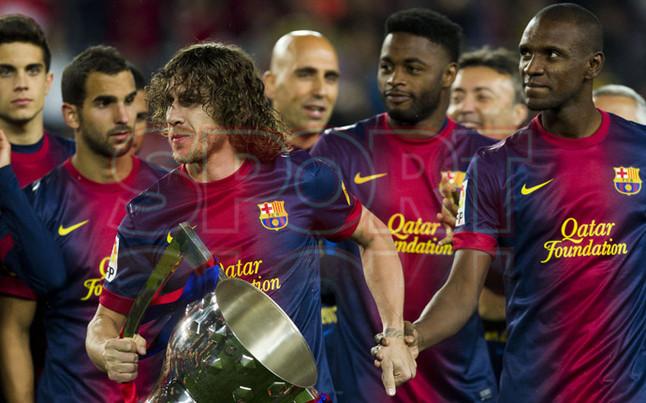 صور احتفالات برشلونة بلقب الليغا الاسبانية في ملعب الكامب نو  19-05-2013 1369005692202