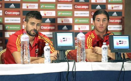 Jugadores del Barça en la Eurocopa12 1338362562734