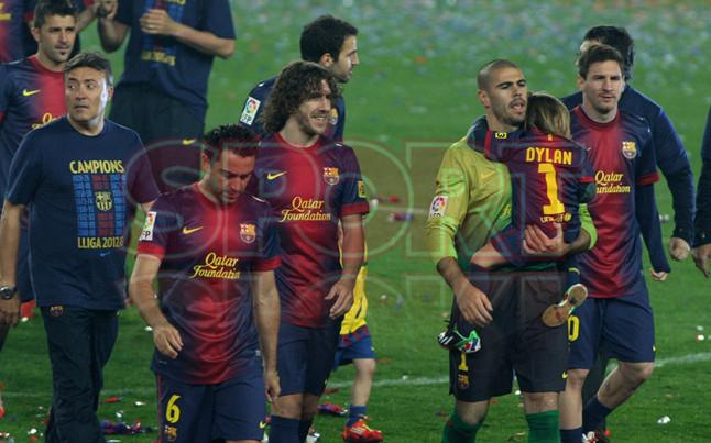 صور احتفالات برشلونة بلقب الليغا الاسبانية في ملعب الكامب نو  19-05-2013 1369005750474