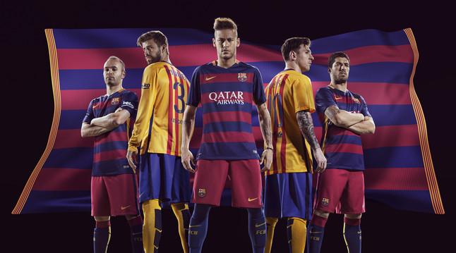 رسمياً : برشلونة يكشف عن قميصه الجديد لموسم 2015-2016 1432456688756