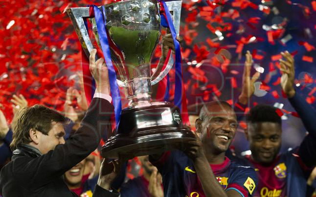 صور احتفالات برشلونة بلقب الليغا الاسبانية في ملعب الكامب نو  19-05-2013 1369005867997