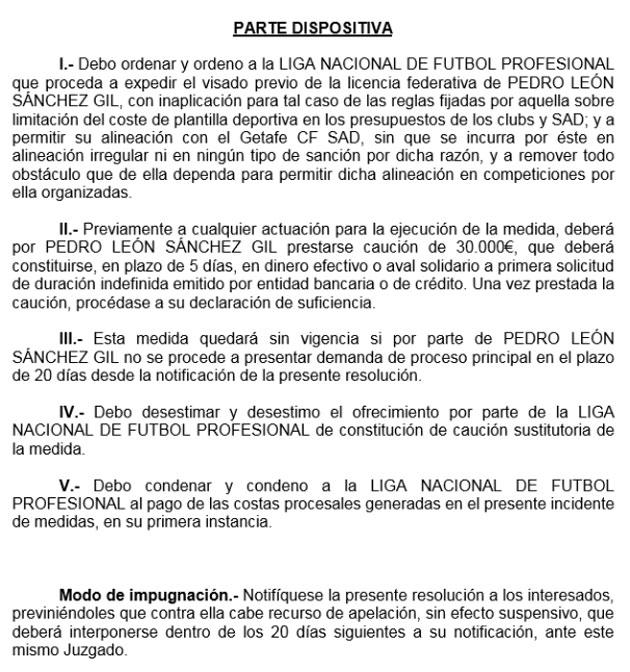 El juez da la cautelar a Pedro León por lo que ya podría jugar 1416230243_extras_noticia_foton_7_0