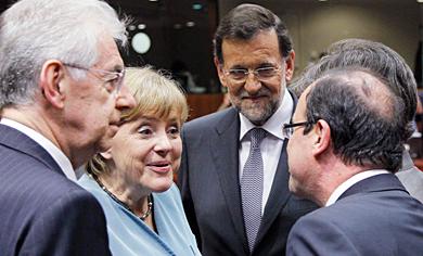 Alemania maniobra en Bruselas para neutralizar a Hollande 1337790851_extras_portada_0