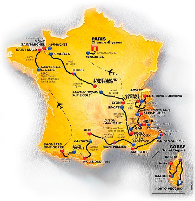 Tour de France 2013 Mapa