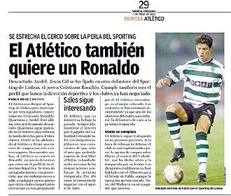 Cristiano Ronaldo pudo ser del Atlético 1244808140_0