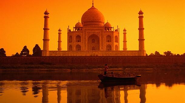 Los mejores sitios de interés turístico del planeta Taj-mahal-al-atardecer-agra1