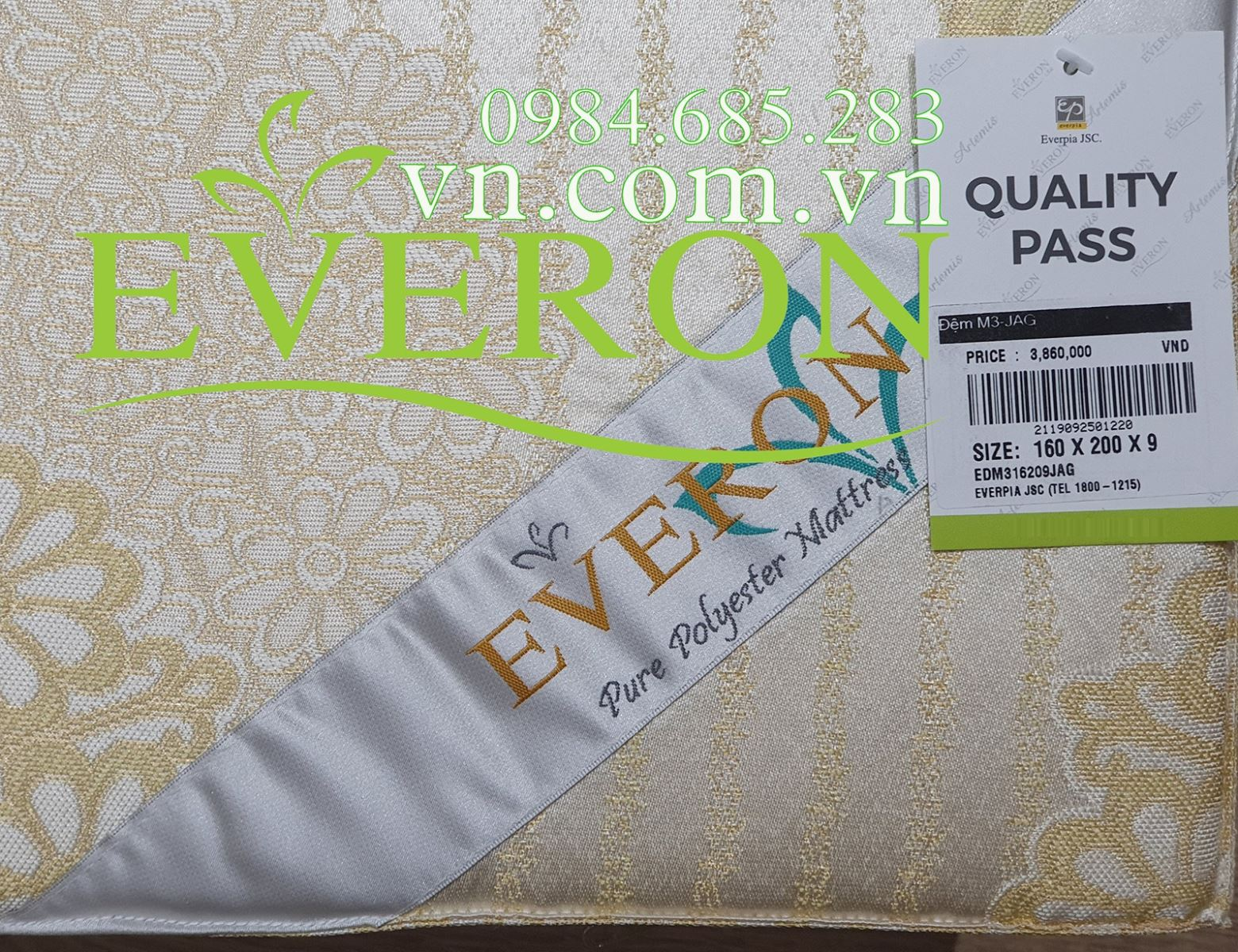 Đặt Đệm bông ép Everon tròn theo kích thước yêu cầu Hà Nội Dem-bong-ep-everon-1