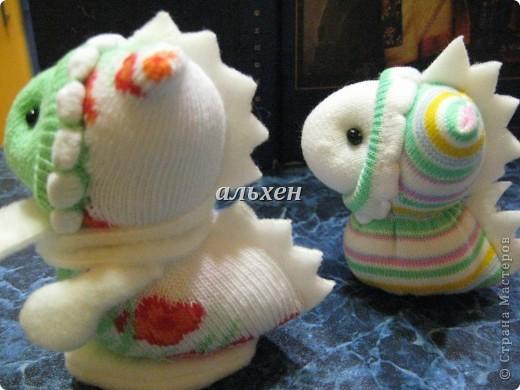 Дракон «Чудик» – мягкая игрушка из носков Dragon-handmade12