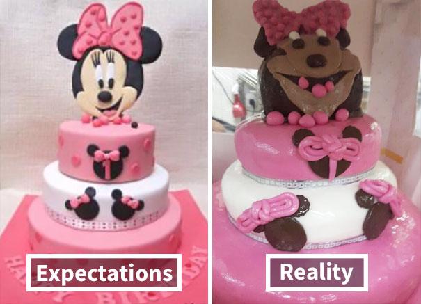 Comida cuqui fail: El tópic de los horrores fotogénicos culinarios Minnie-cake-fail