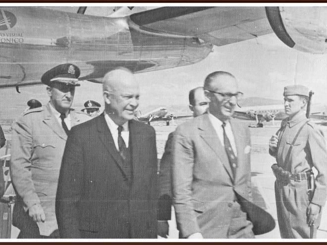 Будет ли раскрытие антарктической немецкой космической программы и выпуск передовых технологий? Eisenhower-in-Bariloche
