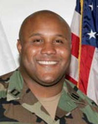 MASSIVE MANHUNT in Los Angeles for Ex-LAPD officer Christopher Dorner/ Was reported that his body was found in a flaming cabin/  Christopher Dorner's body positively ID'd/Died of Self-Inflicted Gunshot to his Head. 20130206__Christopher-Dorner_200