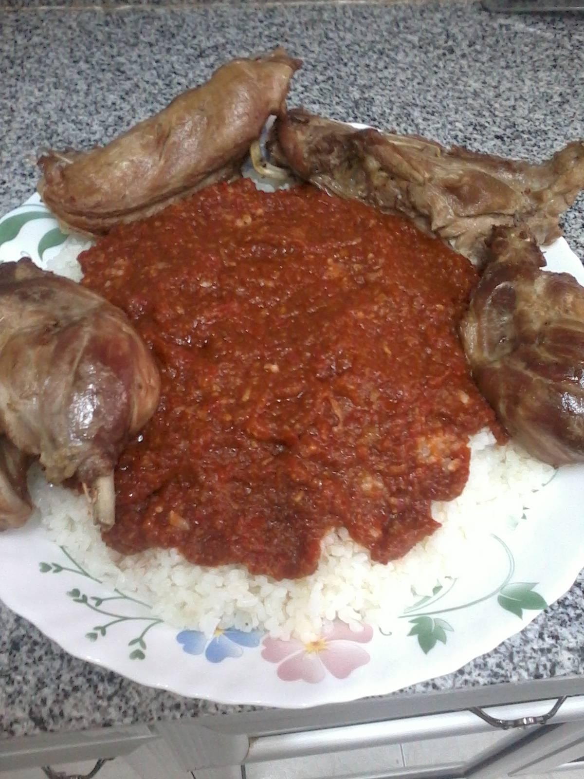 Фатта. Блюдо из риса с мясом. Египетская кухня. 299f39758e19ab6448683d2e0878b37529c4da91160527