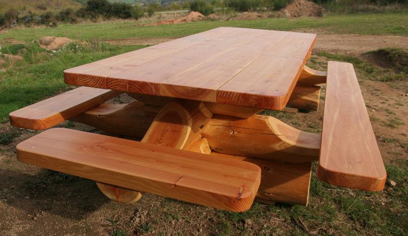 Panneaux en rondins de Douglas Table-plateau-3m-1