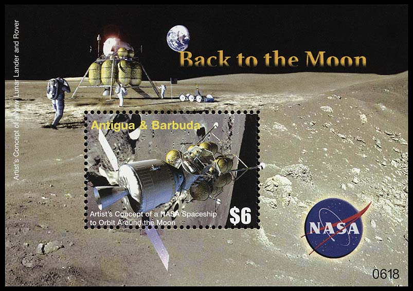 Astrophilatélie soviétique et pays de l'Est Antigua_barbuda_2006_futurespace_bl