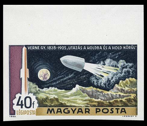 Astrophilatélie soviétique et pays de l'Est Hungary_1969_space_040imperf
