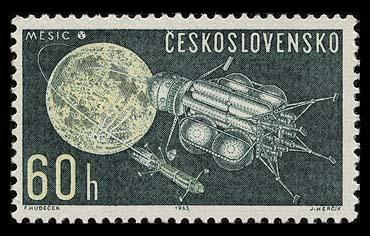 Astrophilatélie soviétique et pays de l'Est - Page 3 Czeskoslovakia_1963_space_060