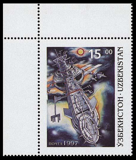 Astrophilatélie soviétique et pays de l'Est - Page 3 Uzbekistan_1997_space_and_fantasy_15_2
