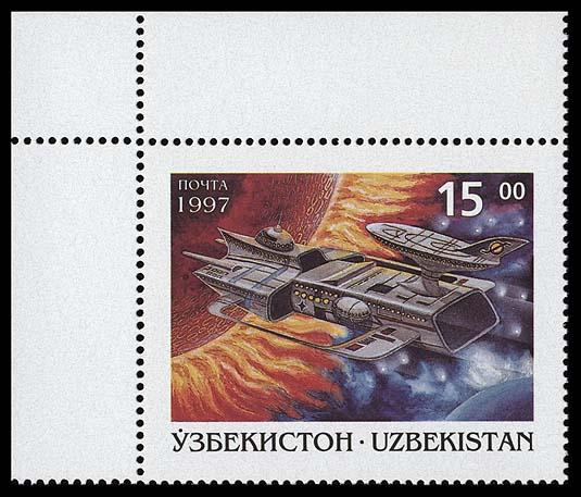 Astrophilatélie soviétique et pays de l'Est - Page 3 Uzbekistan_1997_space_and_fantasy_15_5