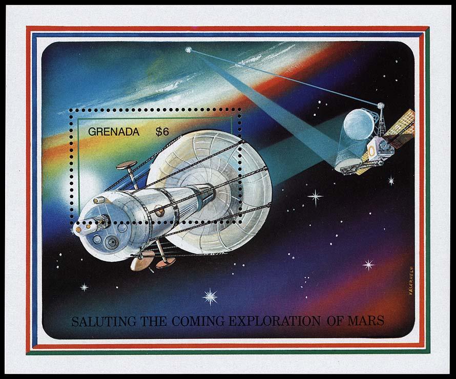 AstroPhilathélie - Page 6 Grenada_1991_mars_mi_block_285