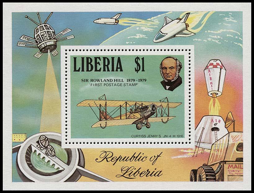 AstroPhilathélie - Page 6 Liberia_1979_air_bl