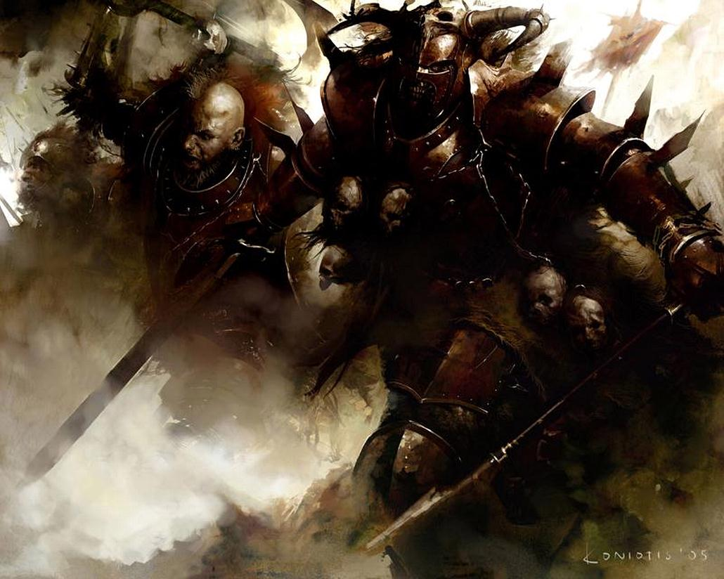 [Warhammer Fantasy Battle] Images diverses - Page 3 Warriors_Of_Khorne-by_Cos_Koniotis