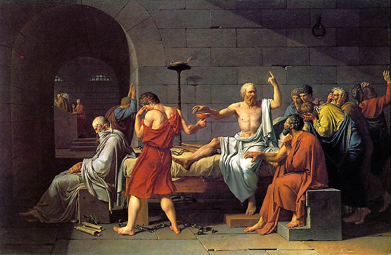 لوحه بعنوان-سقراط يتجرع السم 1800999933_800527f9e3_o