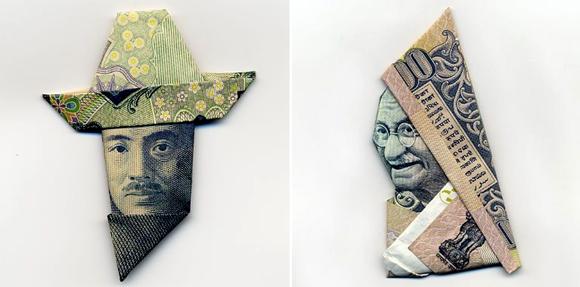 Nghệ thuật gấp tiền giấy! và cách gấp :X  2110542105_4148cfc833_o