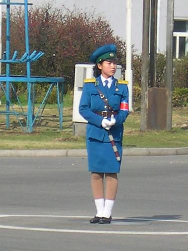 PYONGYANG TRAFFIC POLICE WOMAN INTERVIEWED 3839224810_80c13cc40c