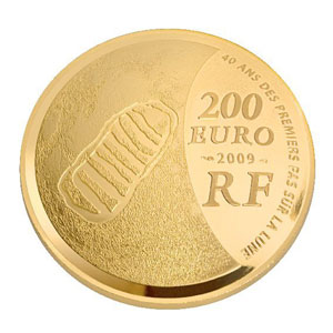 APOLLO 11 / ANNEE MONDIALE DE L'ASTRONOMIE 2009 / FRANCE 200 EUROS OR