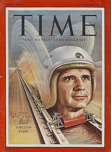 12 MARS 1955 / JOHN STAPP / COUVERTURE TIME