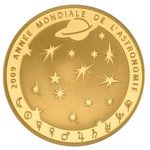 APOLLO 11 / ANNEE MONDIALE DE L'ASTRONOMIE 2009 / FRANCE 50 EUROS OR