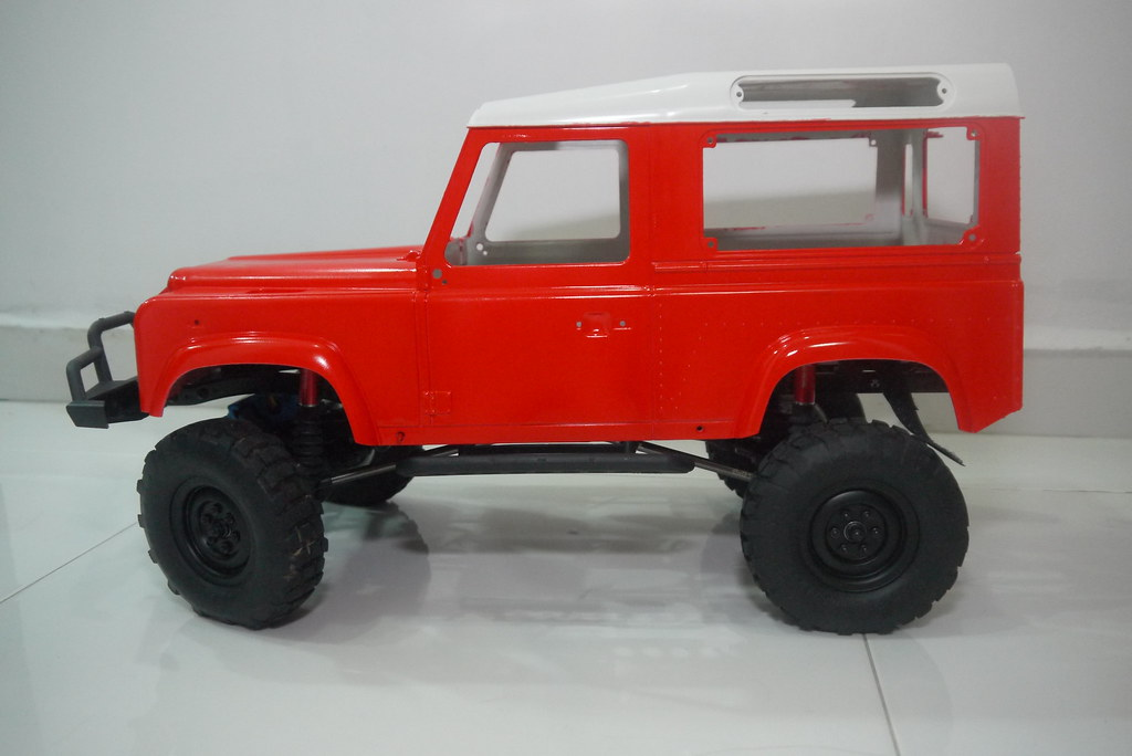 land - Babyboy's Land Rover Defender D90 on Axial SCX10 9360219438_df62cfdbf6_b