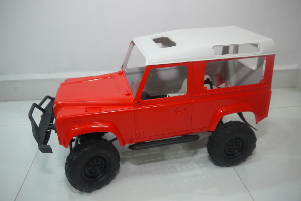 land - Babyboy's Land Rover Defender D90 on Axial SCX10 9357441525_8d2b86acec_b